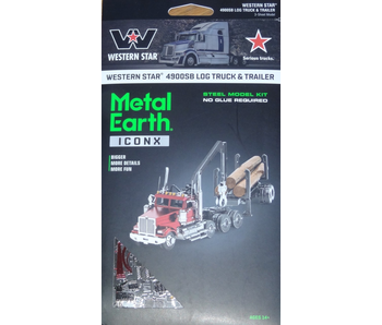 Metal Earth 3D Model Log Truck & Trailer