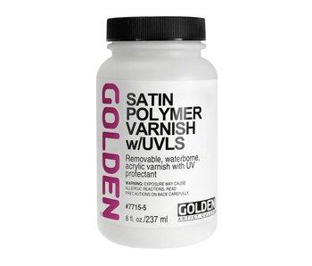Golden Medium 8oz Satin Polymer Varnish w/UVLS
