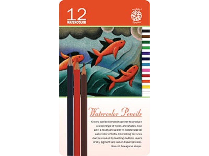 PENTALIC WATERCOLOUR PENCILS 12PK Set