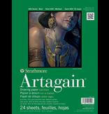 STRATHMORE ARTAGAIN BLACK PAD 9x12
