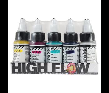 Golden High Flow Acrylic 1oz Drawing Set 10Pk