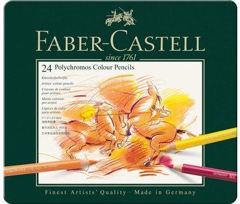 Faber Castell Polychromos Colored Pencil Set 24Pk