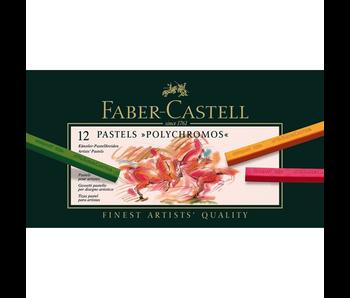 Faber Pastel Polychromos Pastels 12Pk Set