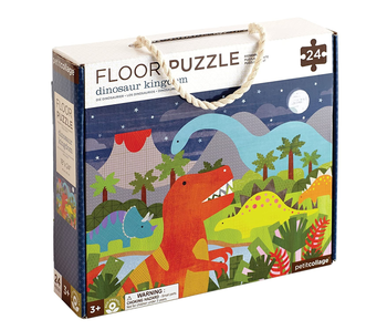 PETITCOLLAGE 24PC FLOOR PUZZLE: DINOSAUR KINGDOM