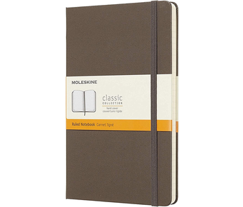 """MOLESKINE CLASSIC COLLECTION HARD COVER RULED NOTEBOOK BROWN 5x8.25"""""""
