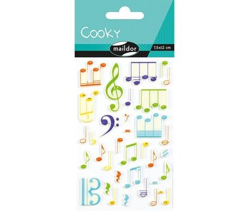 Cooky Sticker Pack: Music Notes