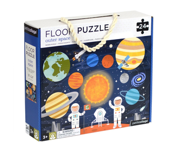PETITCOLLAGE 24PC FLOOR PUZZLE: OUTER SPACE