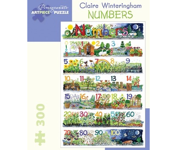 POMEGRANATE ARTPIECE PUZZLE 300 PIECE: CLAIRE WINTERINGHAM NUMBERS
