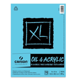CANSON OIL & ACRYLIC PAPER 136 LB 11 X 14 PAD 24 SHEETS