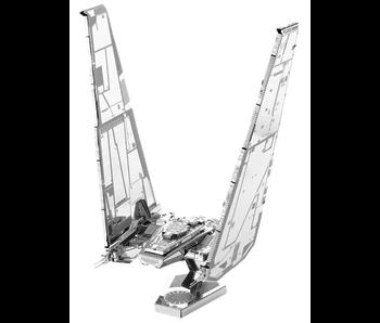 METAL EARTH 3D MODEL SILVER: STAR WARS KYLO REN'S COMMAND SHUTTLE