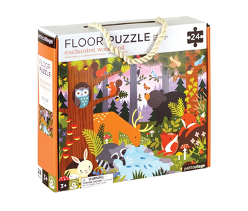 PETITCOLLAGE 24PC FLOOR PUZZLE: ENCHANTED WOODLAND
