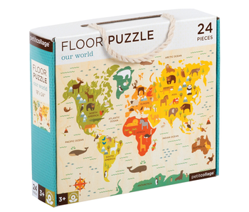 PETITCOLLAGE 24PC FLOOR PUZZLE: OUR WORLD