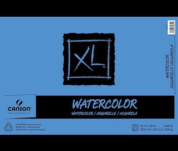 CANSON XL WATERCOLOR PAD 12x18 140LB 30 SHEETS