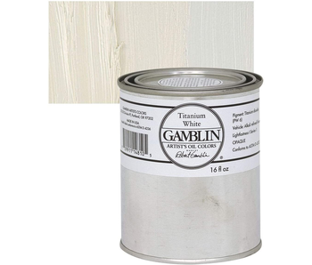 GAMBLIN ARTIST OIL COLORS 16OZ TITANIUM WHITE