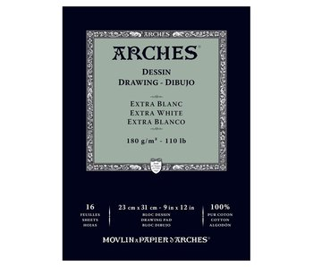 ARCHES DRAWING EXTRA WHITE 110LB 9X12 16 SHEETS