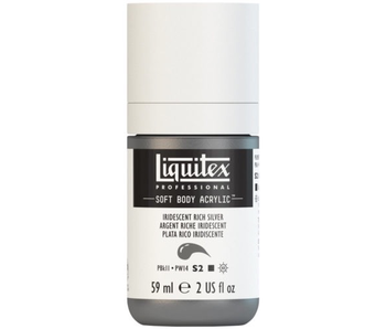 LIQUITEX SOFT BODY ACRYLIC  59ML IRID RCH SLVR