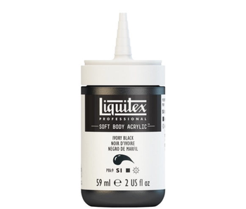 LIQUITEX SOFT BODY ACRYLIC  59ML IVORY BLACK
