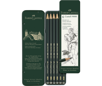 Faber Castell Graphite 9000 Series Set 6Pk