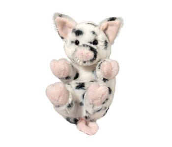 DOUGLAS CUDDLE TOY PLUSH SPOTTED PIG LIL HANDFUL