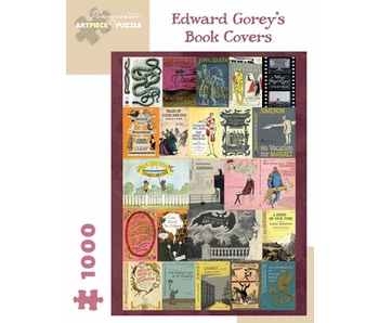 POMEGRANATE ARTPIECE PUZZLE 1000 PIECE: EDWARD GOREY'S BOOK COVERS