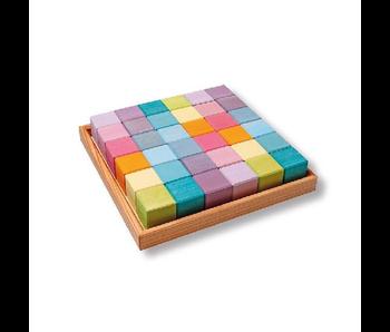 Grimm's: Squares Pastel 36 Cubes