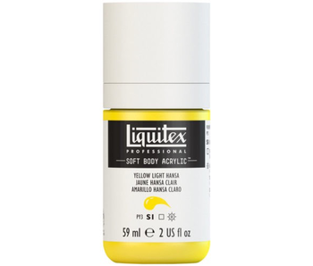 LIQUITEX SOFT BODY ACRYLIC  59ML YLW LT HANSA