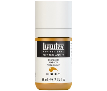 LIQUITEX SOFT BODY ACRYLIC  59ML YLW OXIDE