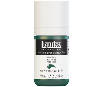 LIQUITEX SOFT BODY ACRYLIC  59ML MUTED GRN