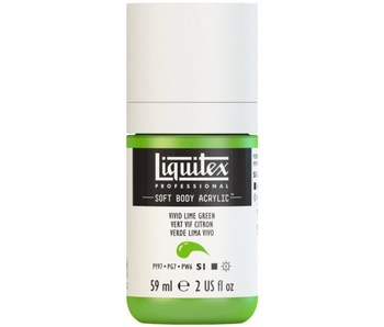 LIQUITEX SOFT BODY ACRYLIC  59ML VIVID LIM GRN
