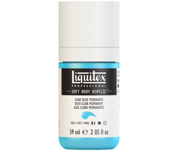 LIQUITEX SOFT BODY ACRYLIC  59ML LT BLU PERM