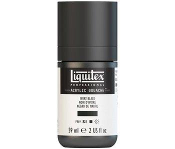 LIQUITEX ACRYLIC GOUACHE 59ML IVORY BLACK