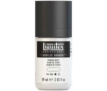 LIQUITEX ACRYLIC GOUACHE 59ML TITANIUM WHITE