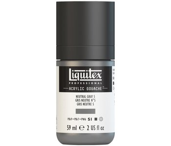 LIQUITEX ACRYLIC GOUACHE 59ML NEUTRAL GREY 5