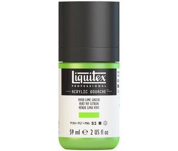 LIQUITEX ACRYLIC GOUACHE 59ML VIVID LIME GREEN