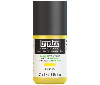 LIQUITEX ACRYLIC GOUACHE 59ML CADMIUM FREE YELLOW LIGHT