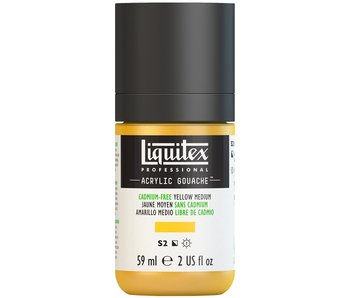 LIQUITEX ACRYLIC GOUACHE 59ML CADMIUM FREE YELLOW MEDIUM