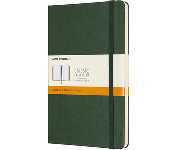 MOLESKINE CLASSIC COLLECTION HARD COVER RULED NOTEBOOK GREEN 5X8.25