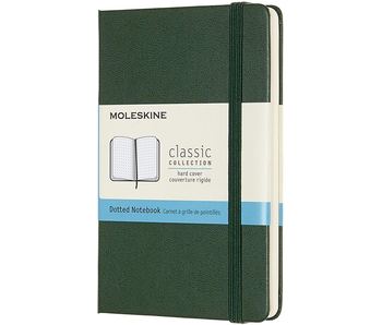 MOLESKINE CLASSIC COLLECTION HARD COVER DOTTED NOTEBOOK GREEN 3.5X5.5 192 PAGES