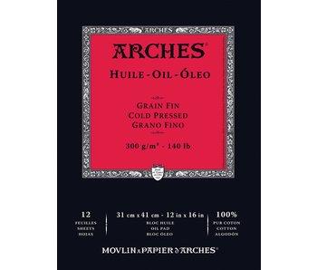ARCHES OIL PAD 12X16 12SH(5)
