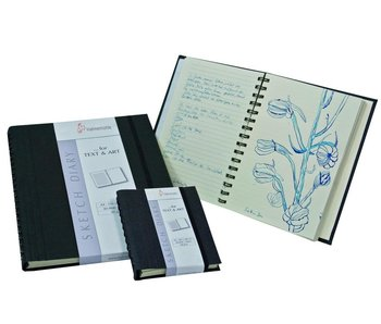 "Hahnemuhle Sketch Diary 120gsm Ruled sketch book 60 sheets/120 pages 5.83"" x 8.27"""