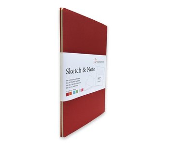 "Hahnemuhle Sketch & Note Booklets 125gsm 20 sh/40 pg Book - Red Bundle 8.27 × 11.69"" A4"