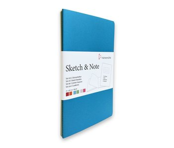 "Hahnemuhle Sketch & Note Booklets 125gsm 20 sh/40 pg Book - Blue Bundle 8.27 × 11.69"" A4"