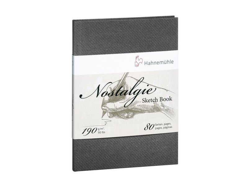 Hahnemuhle Nostalgie Hard Cover Sketch 40 sheet/80 page book, portrait 4.13 x 5.83""