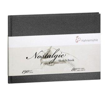 Hahnemuhle Nostalgie Hard Cover Sketch 40 sheet/80 page book, landscape 5.8X8.3