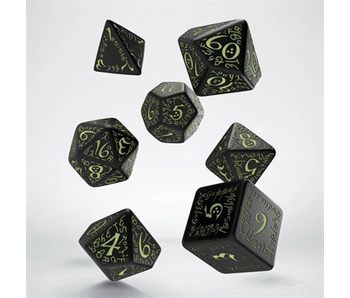 Elvish Dice Glow In The Dark 7Pc
