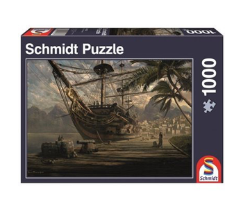 Schmidt Puzzle 1000 Ship At Anchor