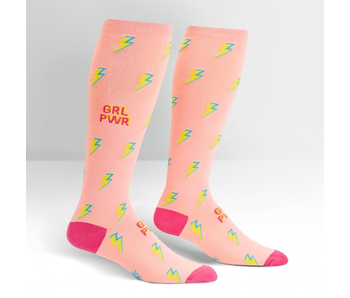Sock It To Me Stretch-It Knee High: GRL PWR