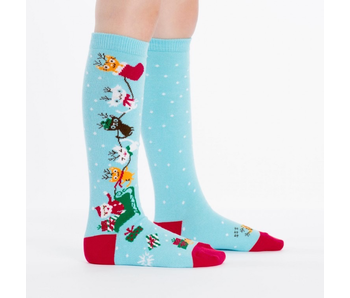 Sock It To Me Youth Knee: Jingle Cats