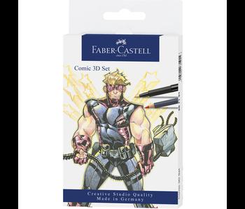 Faber-Castell Pitt Artist Pen Comic 3D Set