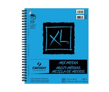 "Canson XL Mix MEDIA 11X14"" 60SH Wirebound"